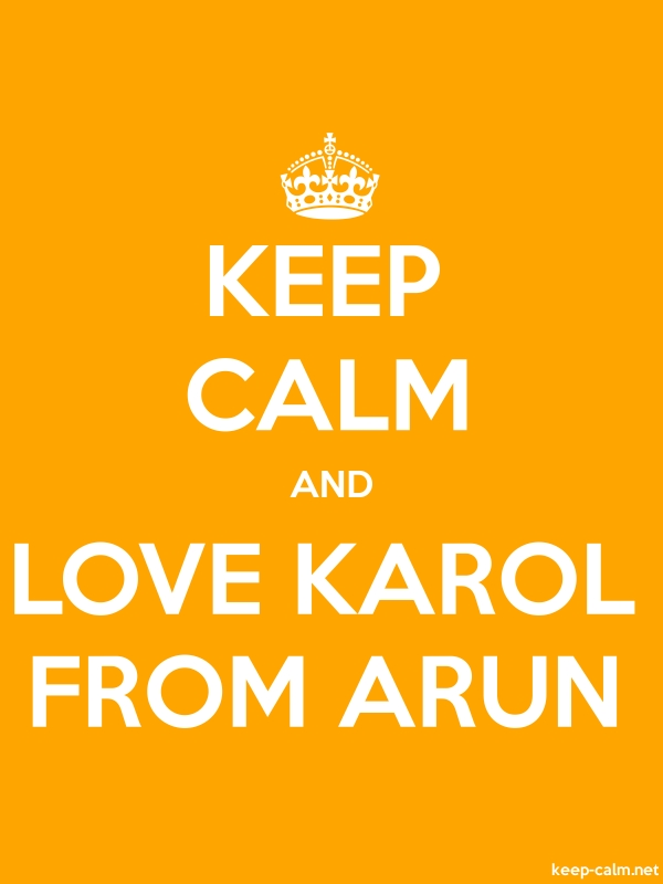 KEEP CALM AND LOVE KAROL FROM ARUN - white/orange - Default (600x800)