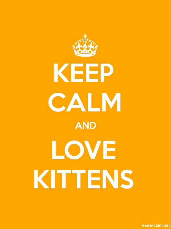 KEEP CALM AND LOVE KITTENS - white/orange - Default (600x800)