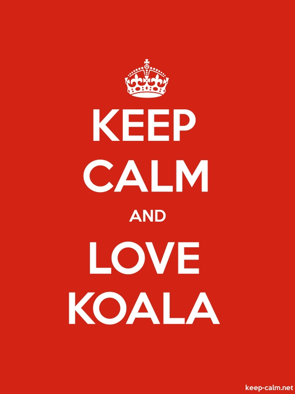 KEEP CALM AND LOVE KOALA - white/red - Default (600x800)