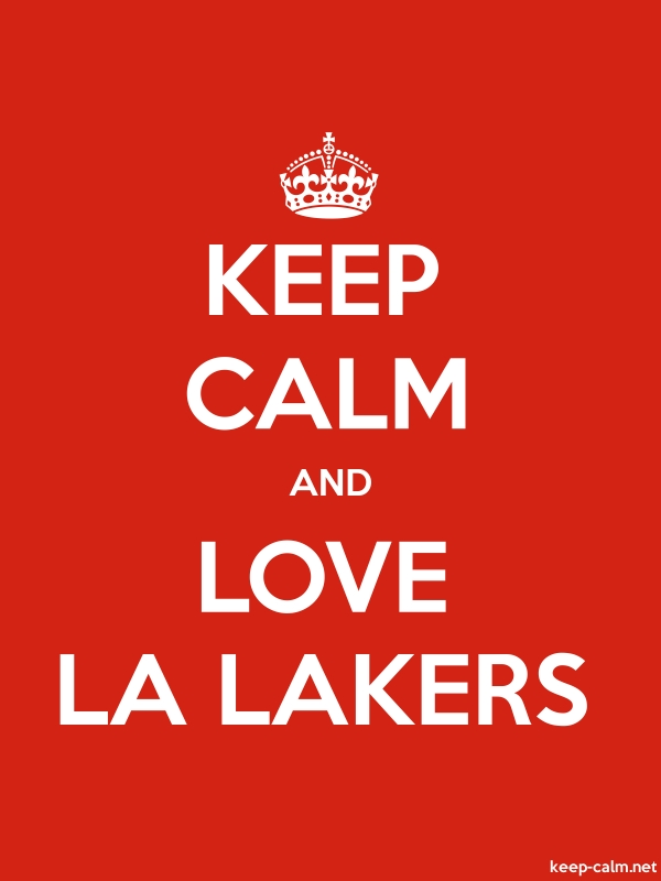 KEEP CALM AND LOVE LA LAKERS - white/red - Default (600x800)