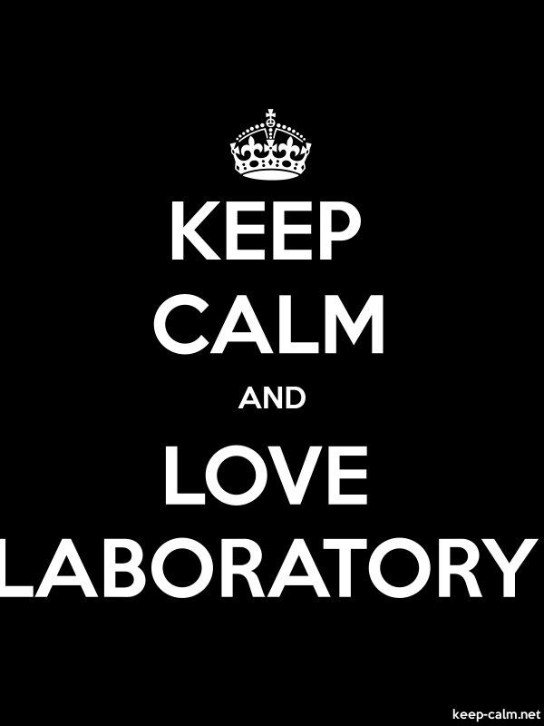 KEEP CALM AND LOVE LABORATORY - white/black - Default (600x800)