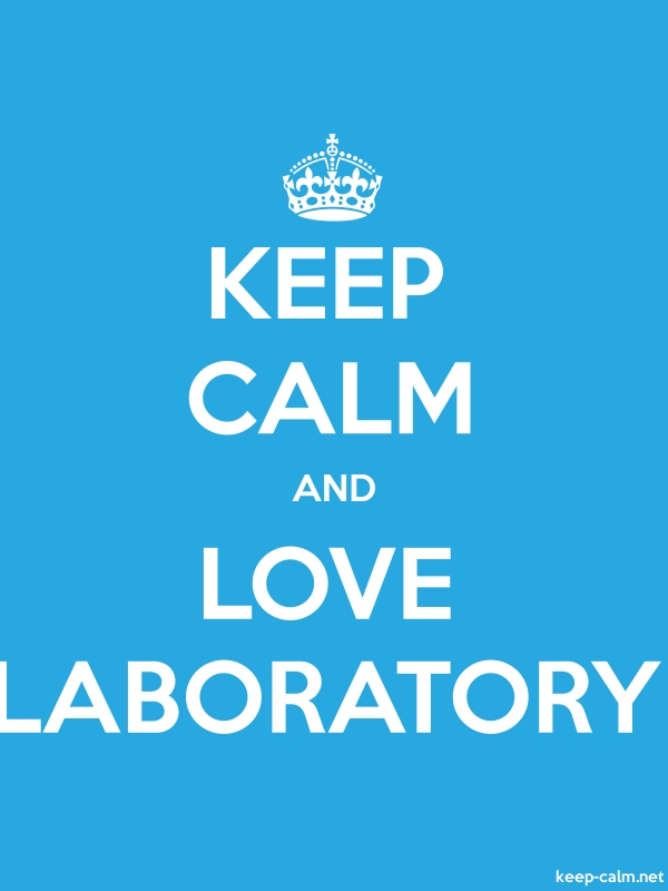 KEEP CALM AND LOVE LABORATORY - white/blue - Default (600x800)