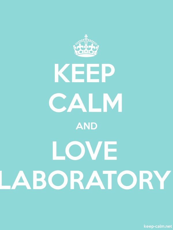 KEEP CALM AND LOVE LABORATORY - white/lightblue - Default (600x800)
