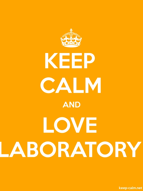 KEEP CALM AND LOVE LABORATORY - white/orange - Default (600x800)