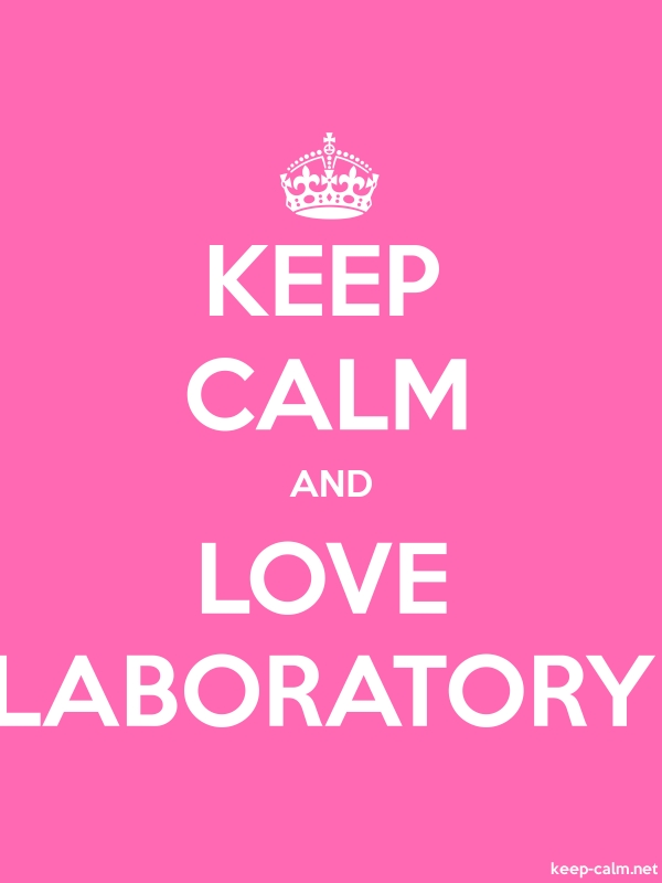 KEEP CALM AND LOVE LABORATORY - white/pink - Default (600x800)