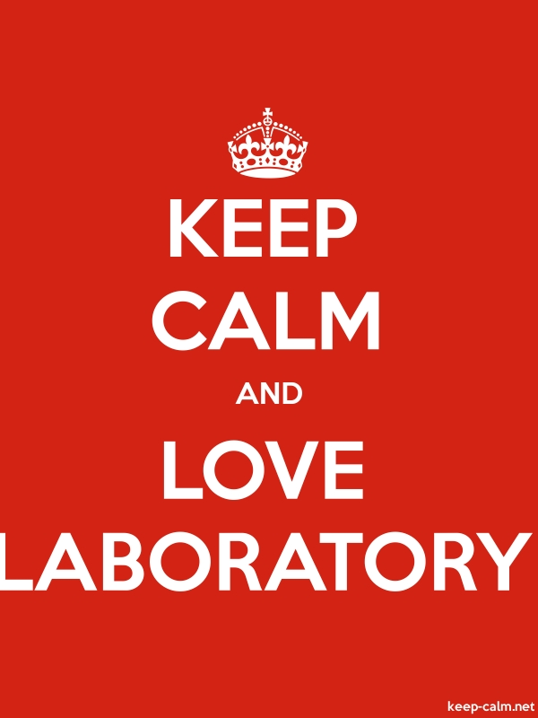KEEP CALM AND LOVE LABORATORY - white/red - Default (600x800)