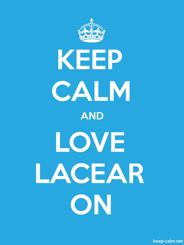 KEEP CALM AND LOVE LACEAR ON - white/blue - Default (600x800)