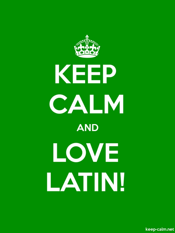 KEEP CALM AND LOVE LATIN! - white/green - Default (600x800)