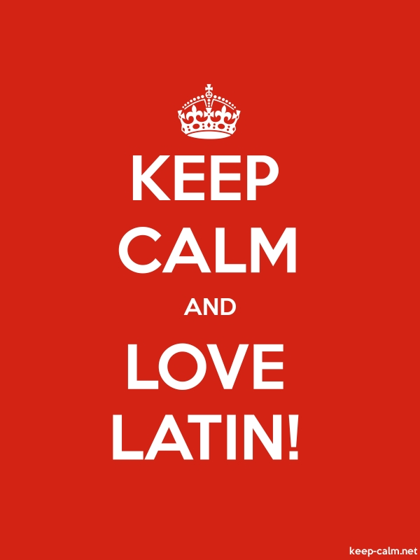 KEEP CALM AND LOVE LATIN! - white/red - Default (600x800)
