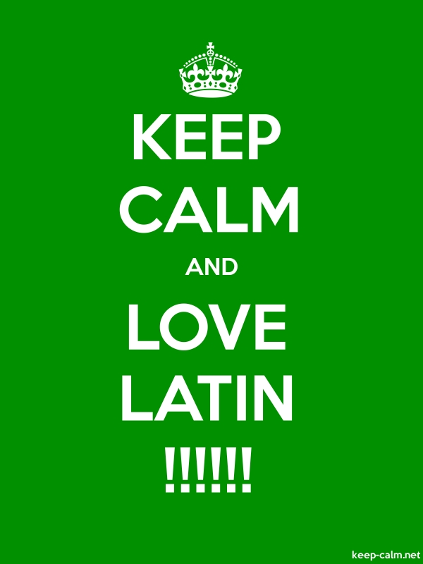 KEEP CALM AND LOVE LATIN !!!!!! - white/green - Default (600x800)