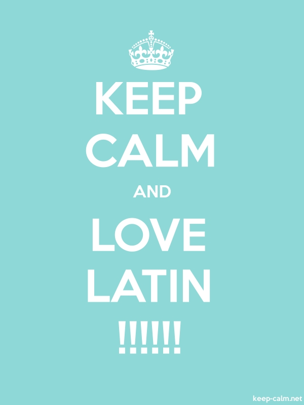 KEEP CALM AND LOVE LATIN !!!!!! - white/lightblue - Default (600x800)