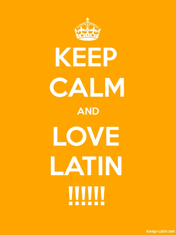 KEEP CALM AND LOVE LATIN !!!!!! - white/orange - Default (600x800)