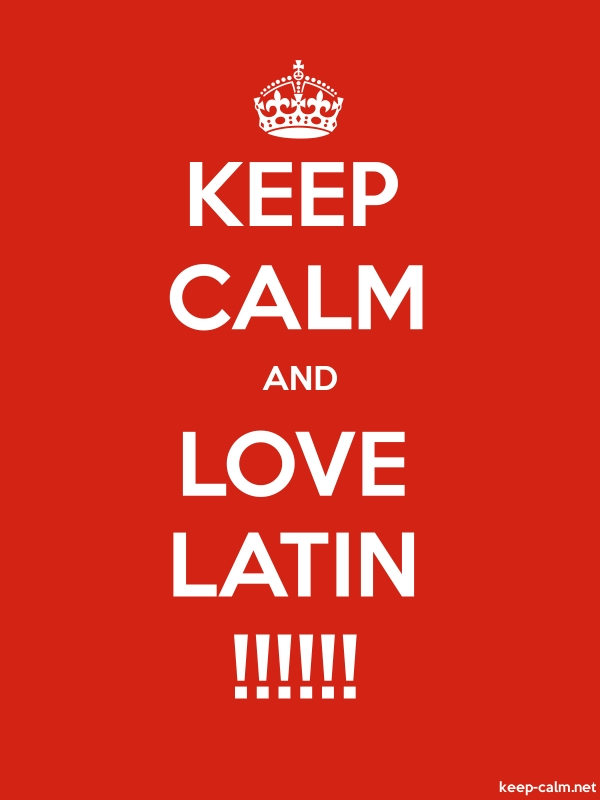 KEEP CALM AND LOVE LATIN !!!!!! - white/red - Default (600x800)