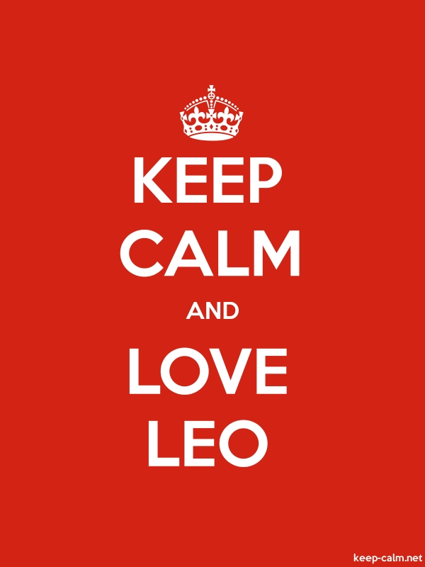 KEEP CALM AND LOVE LEO - white/red - Default (600x800)