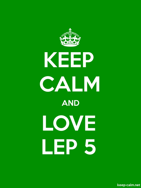KEEP CALM AND LOVE LEP 5 - white/green - Default (600x800)