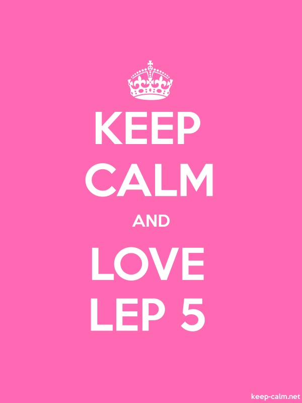 KEEP CALM AND LOVE LEP 5 - white/pink - Default (600x800)