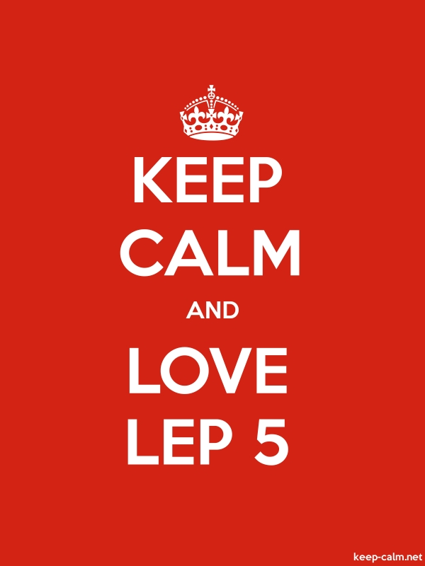 KEEP CALM AND LOVE LEP 5 - white/red - Default (600x800)