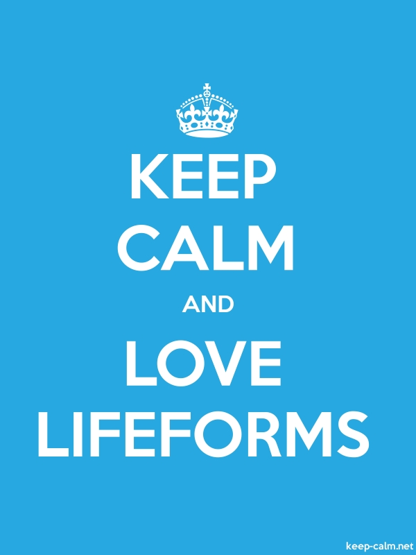 KEEP CALM AND LOVE LIFEFORMS - white/blue - Default (600x800)