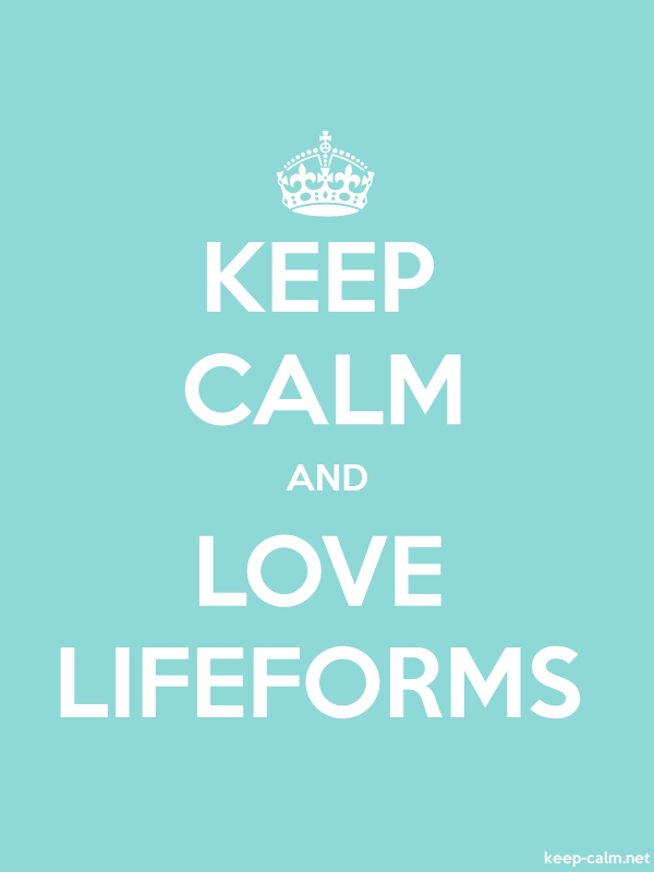 KEEP CALM AND LOVE LIFEFORMS - white/lightblue - Default (600x800)
