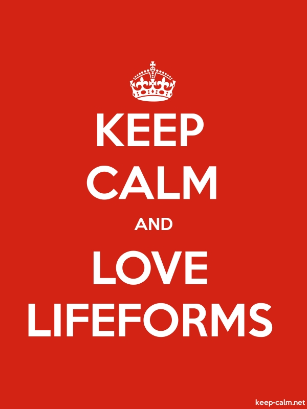 KEEP CALM AND LOVE LIFEFORMS - white/red - Default (600x800)