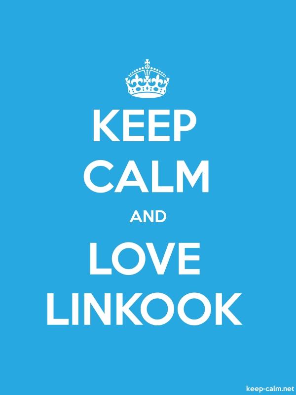 KEEP CALM AND LOVE LINKOOK - white/blue - Default (600x800)