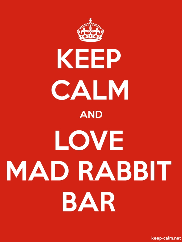 KEEP CALM AND LOVE MAD RABBIT BAR - white/red - Default (600x800)