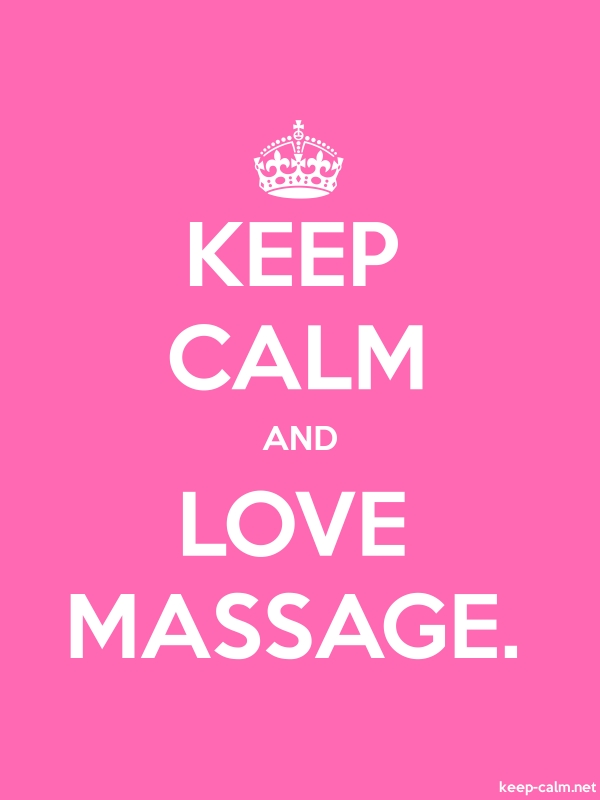 KEEP CALM AND LOVE MASSAGE. - white/pink - Default (600x800)