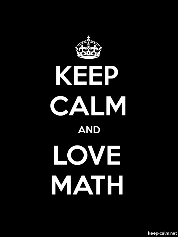 KEEP CALM AND LOVE MATH - white/black - Default (600x800)