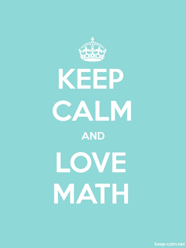 KEEP CALM AND LOVE MATH - white/lightblue - Default (600x800)