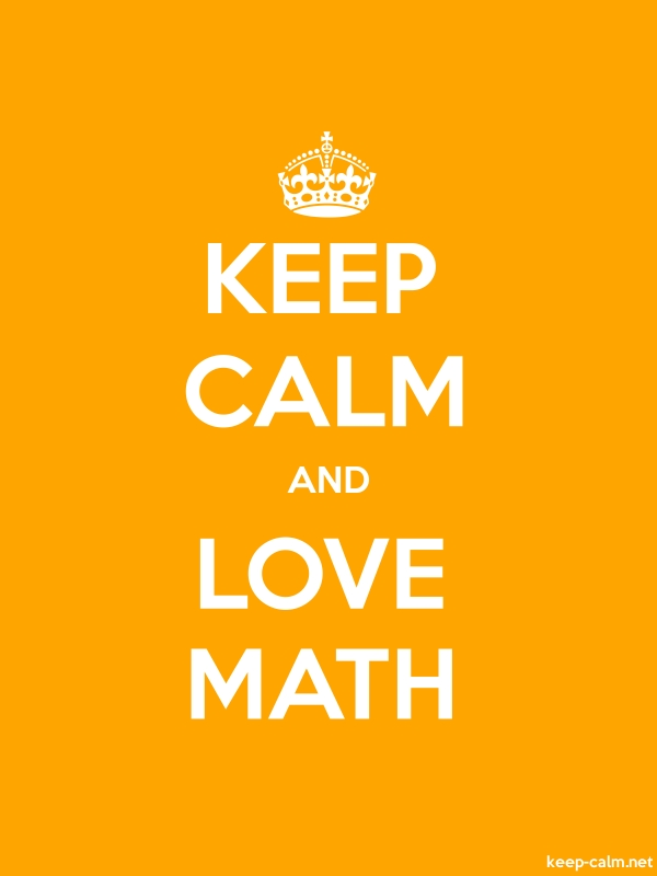 KEEP CALM AND LOVE MATH - white/orange - Default (600x800)