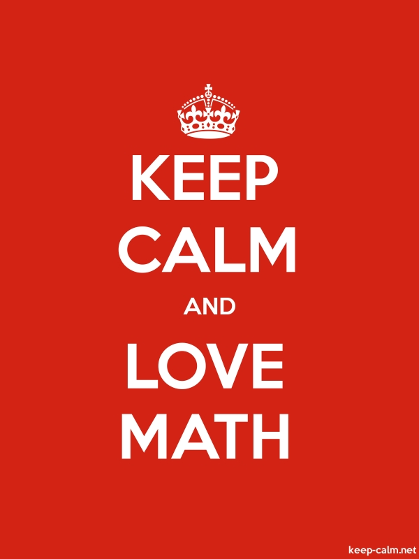 KEEP CALM AND LOVE MATH - white/red - Default (600x800)