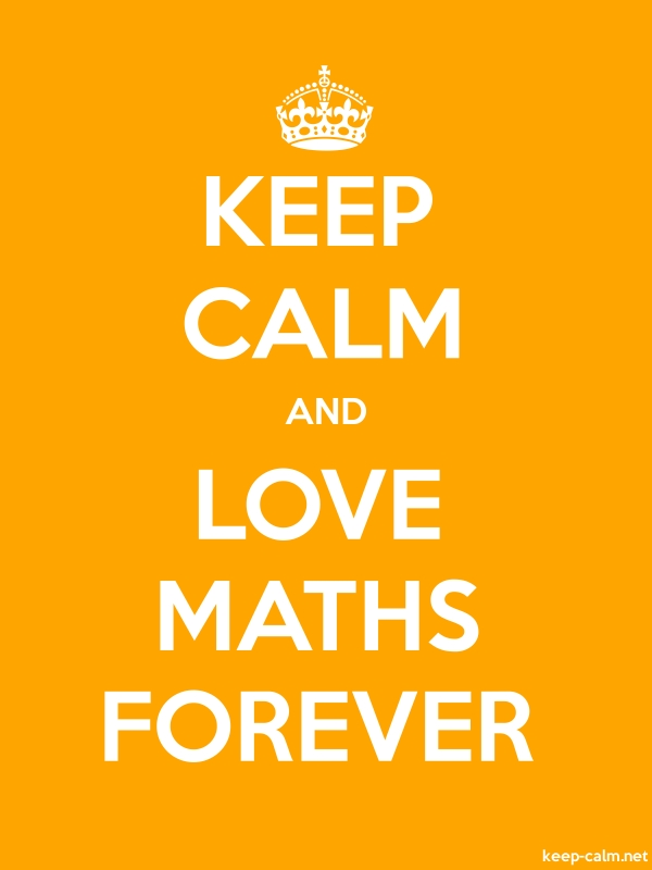 KEEP CALM AND LOVE MATHS FOREVER - white/orange - Default (600x800)