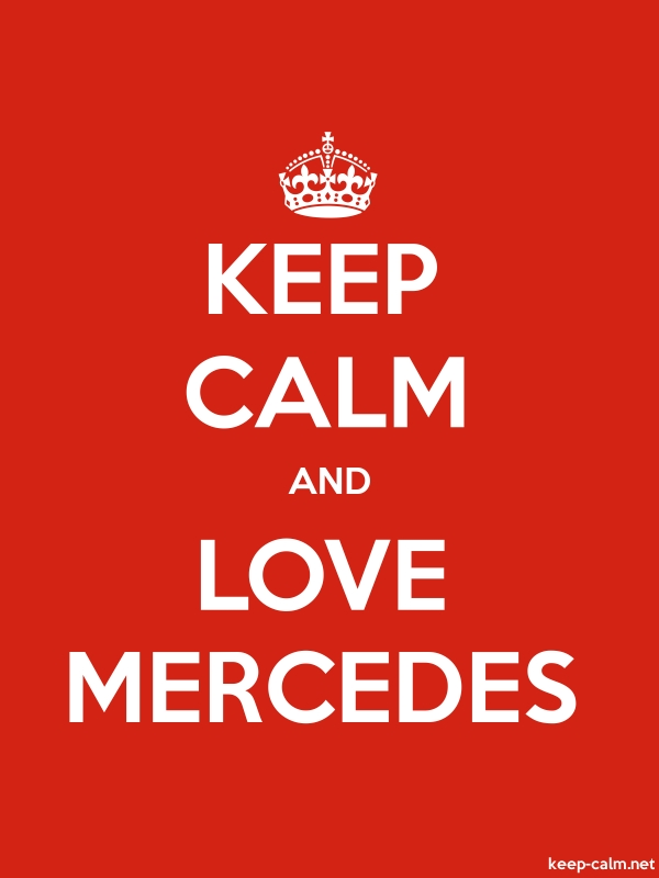 KEEP CALM AND LOVE MERCEDES - white/red - Default (600x800)