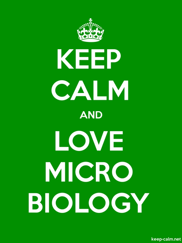 KEEP CALM AND LOVE MICRO BIOLOGY - white/green - Default (600x800)