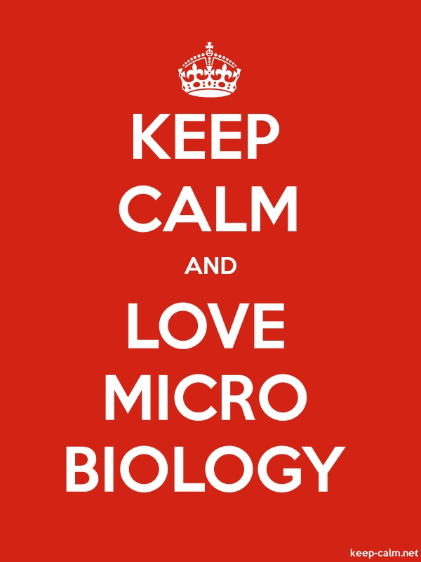 KEEP CALM AND LOVE MICRO BIOLOGY - white/red - Default (600x800)
