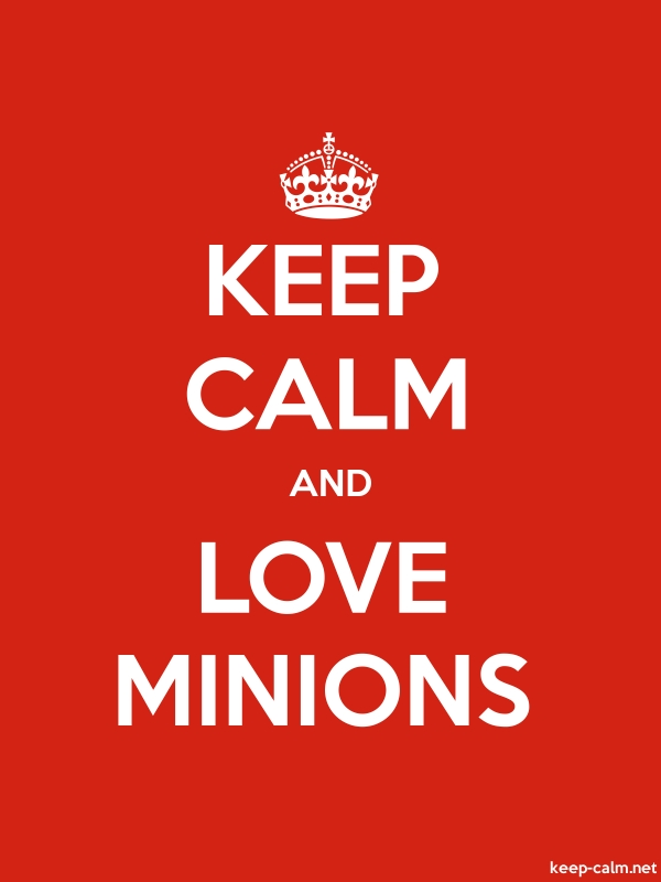 KEEP CALM AND LOVE MINIONS - white/red - Default (600x800)