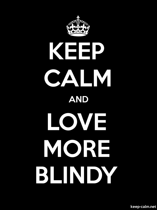 KEEP CALM AND LOVE MORE BLINDY - white/black - Default (600x800)