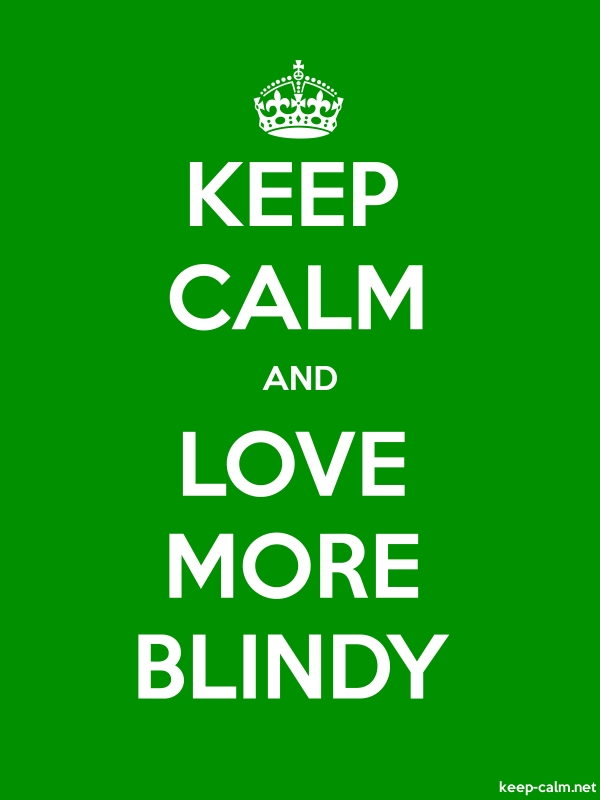 KEEP CALM AND LOVE MORE BLINDY - white/green - Default (600x800)