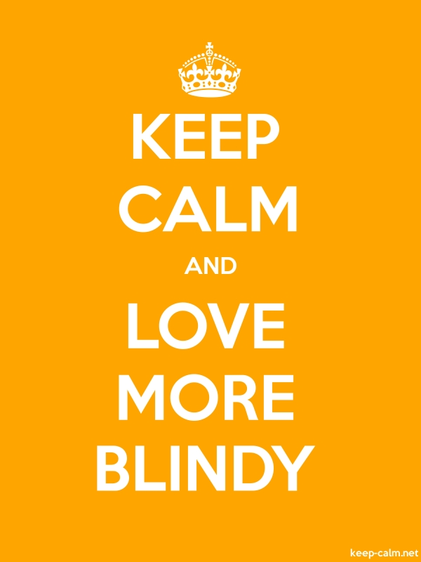 KEEP CALM AND LOVE MORE BLINDY - white/orange - Default (600x800)