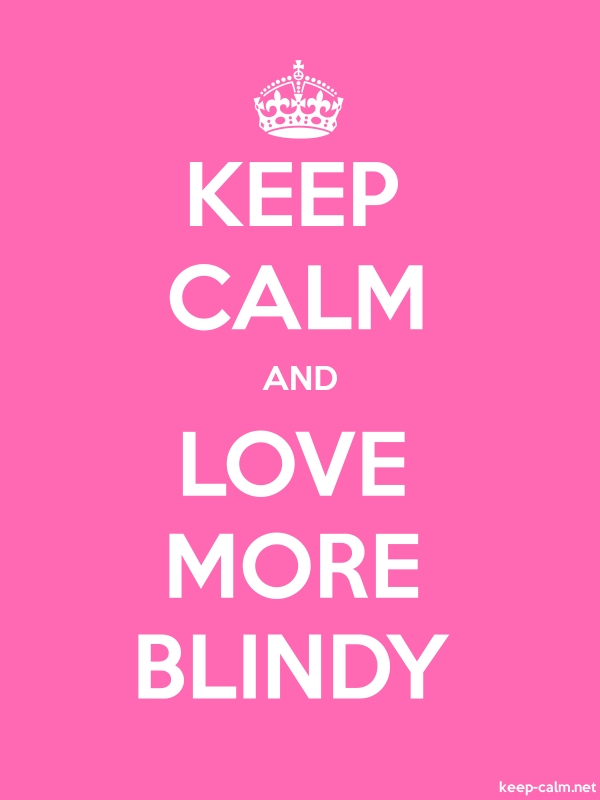 KEEP CALM AND LOVE MORE BLINDY - white/pink - Default (600x800)