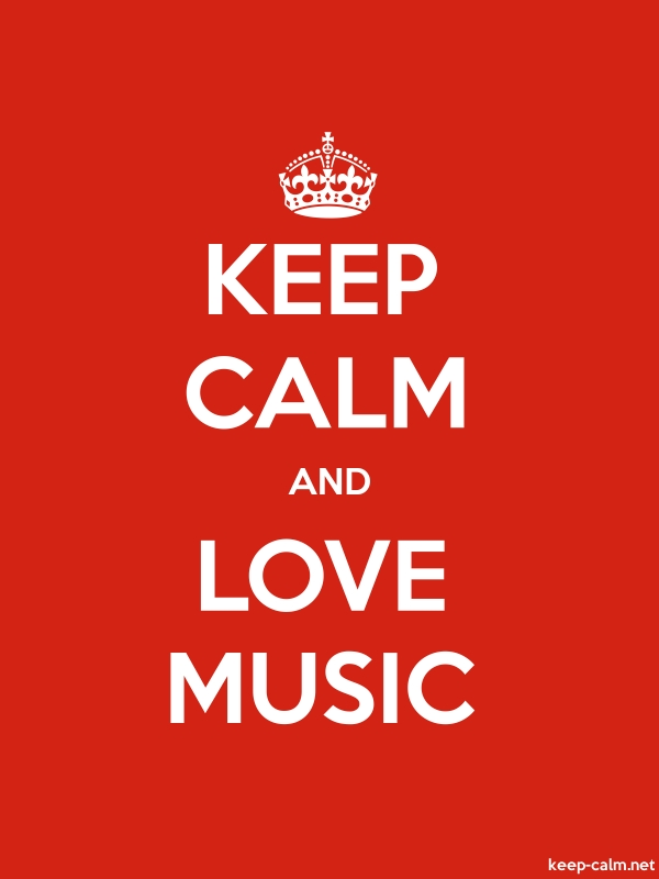 KEEP CALM AND LOVE MUSIC - white/red - Default (600x800)
