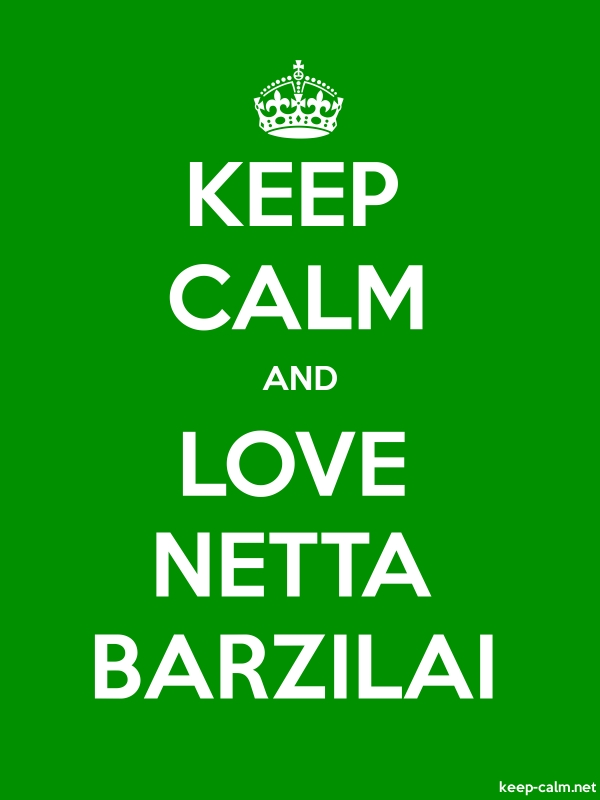 KEEP CALM AND LOVE NETTA BARZILAI - white/green - Default (600x800)