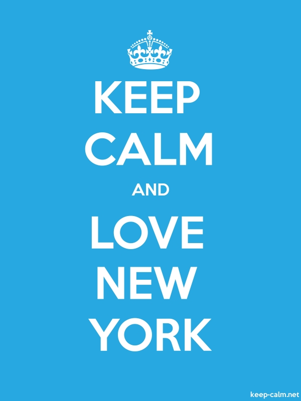 KEEP CALM AND LOVE NEW YORK - white/blue - Default (600x800)