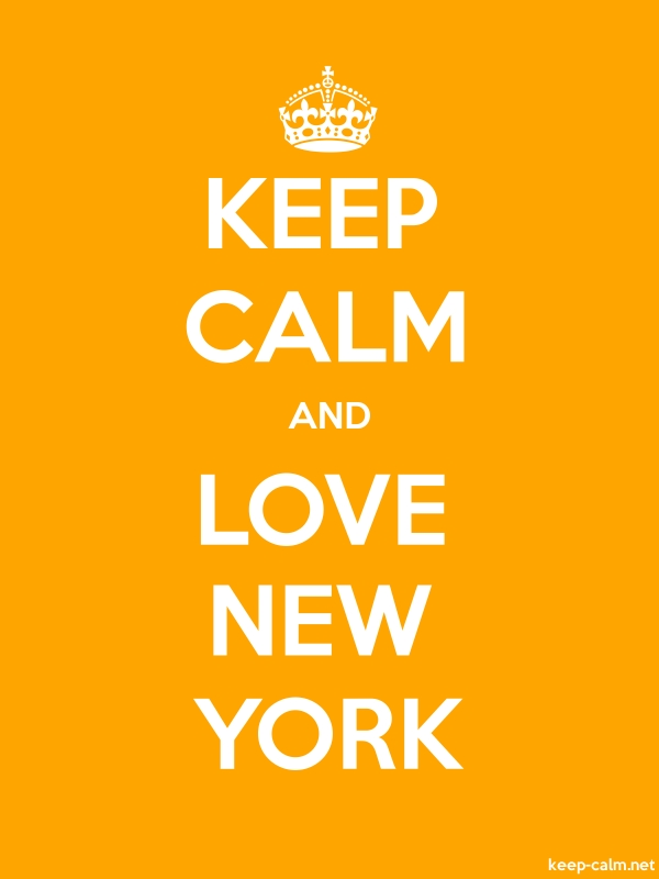 KEEP CALM AND LOVE NEW YORK - white/orange - Default (600x800)