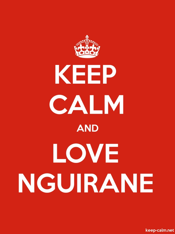 KEEP CALM AND LOVE NGUIRANE - white/red - Default (600x800)