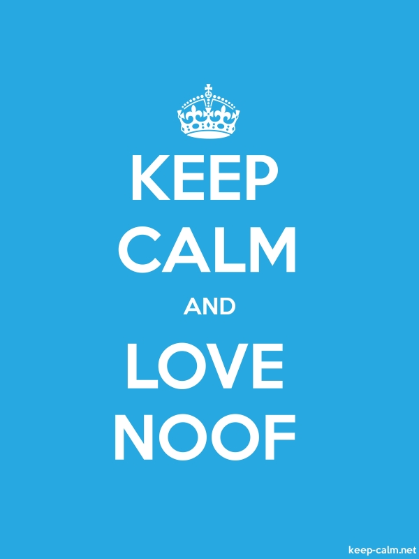 KEEP CALM AND LOVE NOOF - white/blue - Default (600x800)
