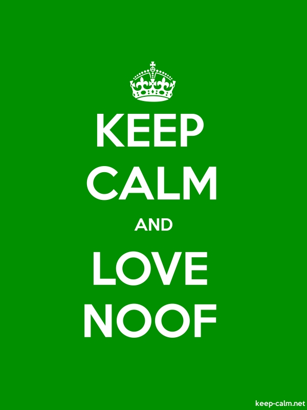 KEEP CALM AND LOVE NOOF - white/green - Default (600x800)