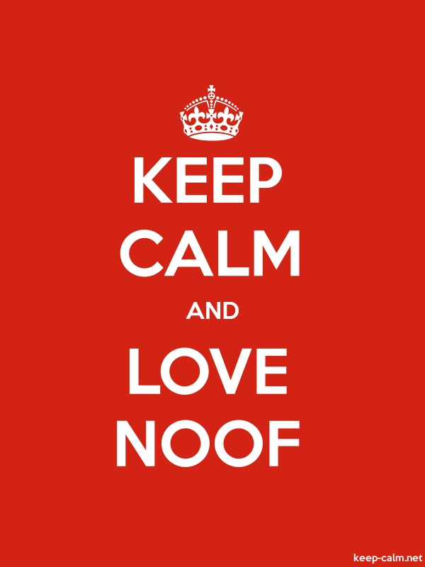 KEEP CALM AND LOVE NOOF - white/red - Default (600x800)