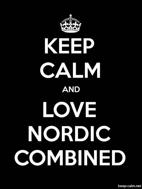 KEEP CALM AND LOVE NORDIC COMBINED - white/black - Default (600x800)