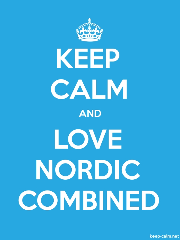 KEEP CALM AND LOVE NORDIC COMBINED - white/blue - Default (600x800)